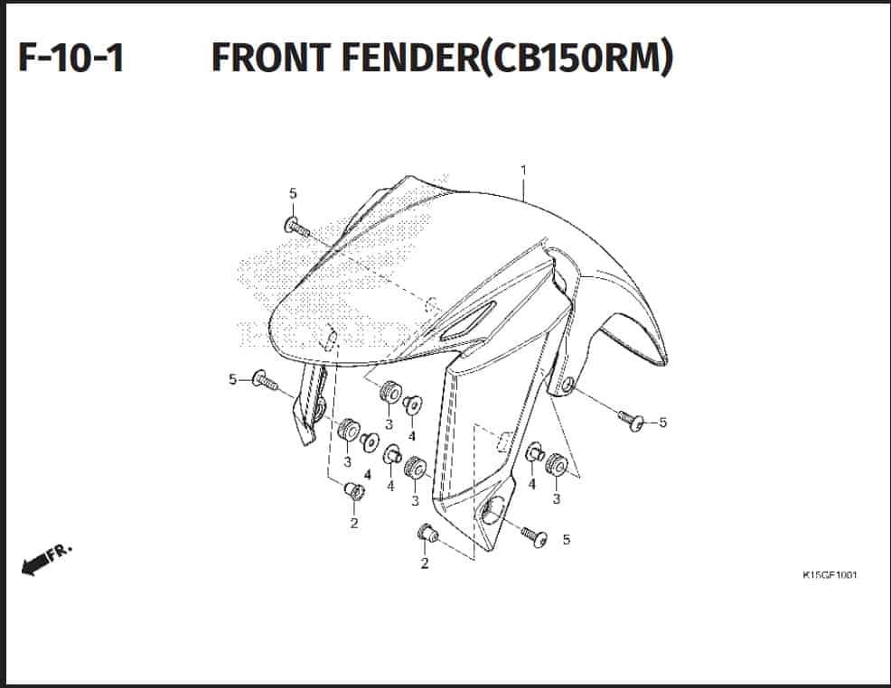 F-10-1 Front Fender (CB150RM)