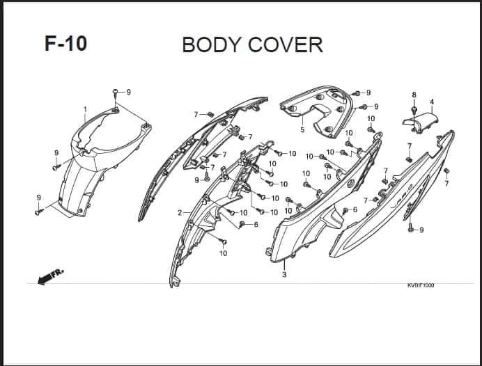 F-10 Body Cover