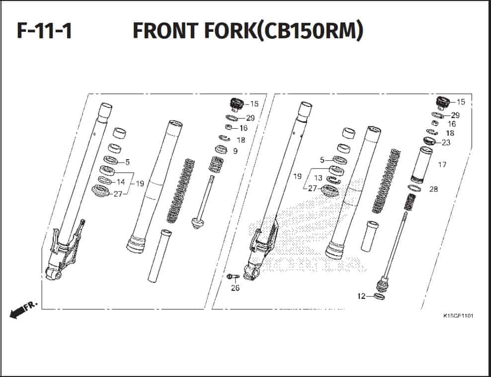 F-11-1 Front Fork (CB150RM)