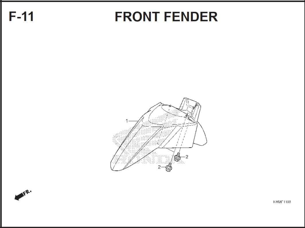 F-11 Front Fender