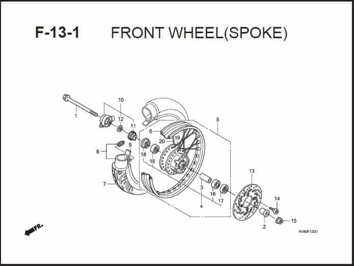 F-13 -1 Front Wheel