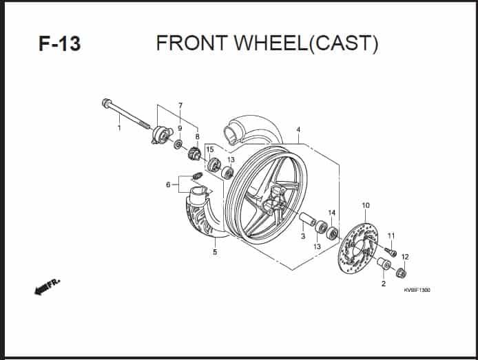 F-13 Front Wheel