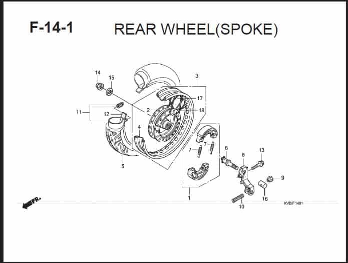 F-14-1 Rear Wheel