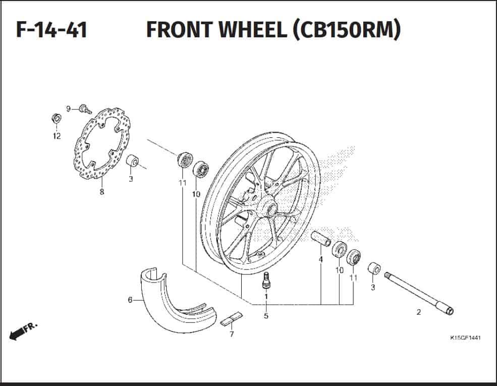 F-14-41 Front Wheel (CB150RM)