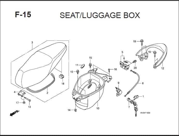 F-15 Seat Luggage Box