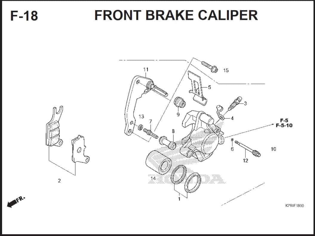 F-18 Front Brake Caliper
