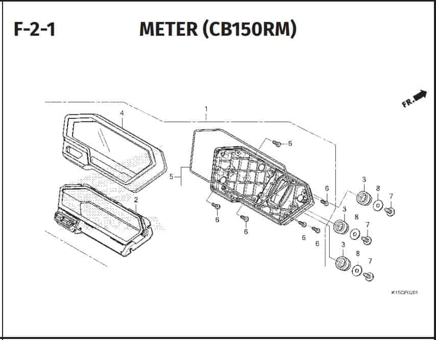 F-2-1 Meter (CBR150RM)