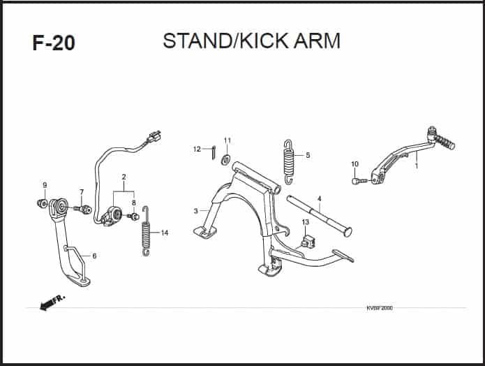 F-20 Stand Kick Arm