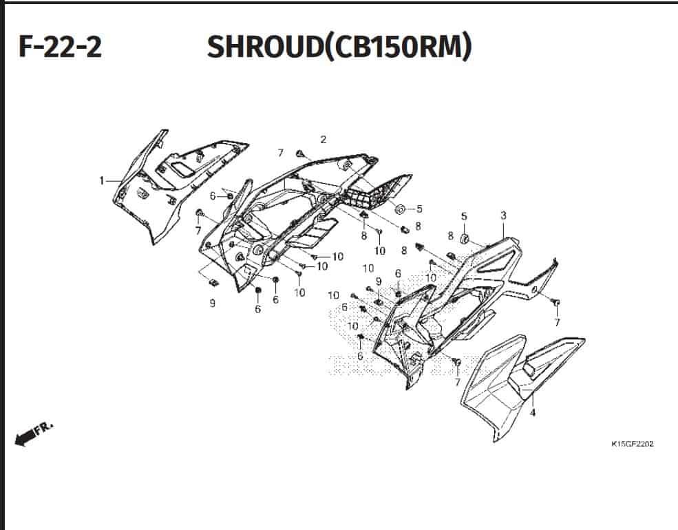 F-22 -2 Shroud (CB150RM)