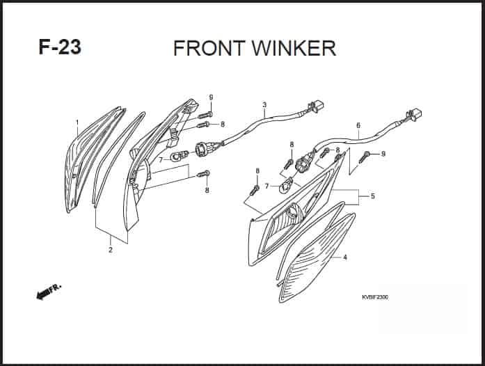 F-23 Front Winker