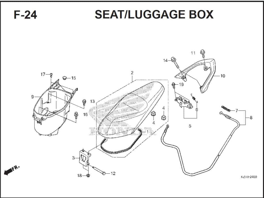 F-24 Seat Luaggage Box