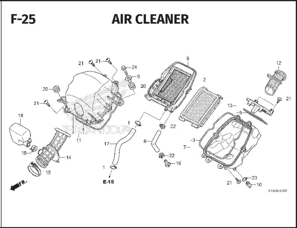 F-25 Air Cleaner – Katalog Honda New CB150R StreetFire K15P
