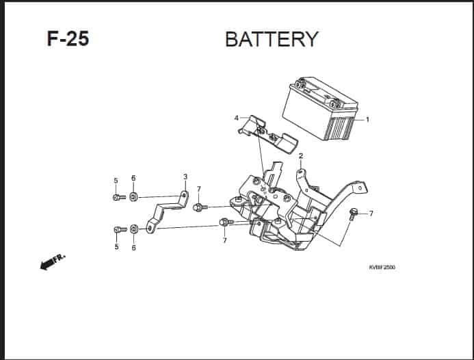 F-25 Battery