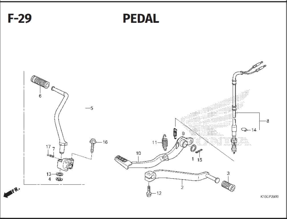 F-29 Pedal – Katalog Honda New CB150R StreetFire K15P