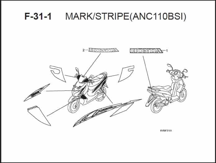 F-31-1 Mark Stripe