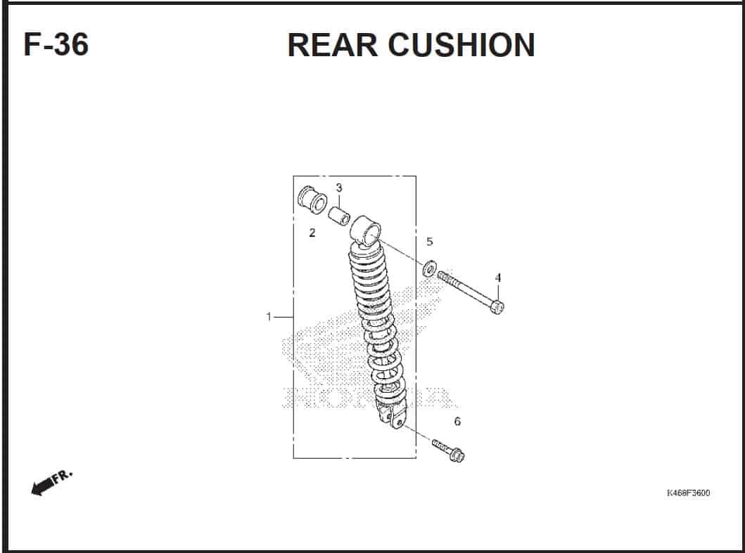 F-36 Rear Cushion – Katalog Honda Vario 110 FI