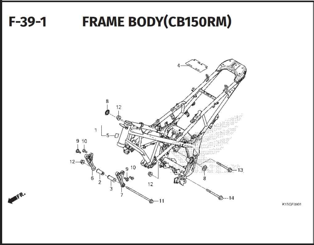 F-39-1 Frame Body (CB150RM)