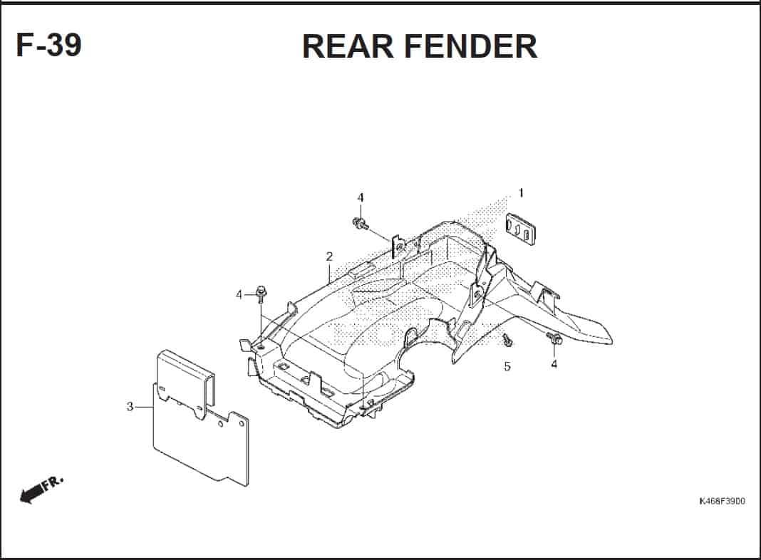 F-39 Rear Fender – Katalog Honda Vario 110 FI