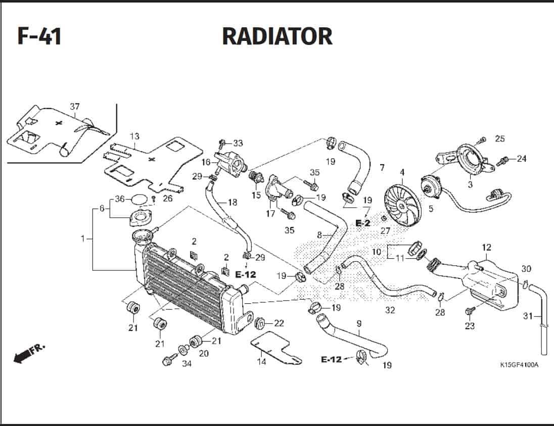 F-41 Radiator – Katalog Honda New CB150R StreetFire K15P