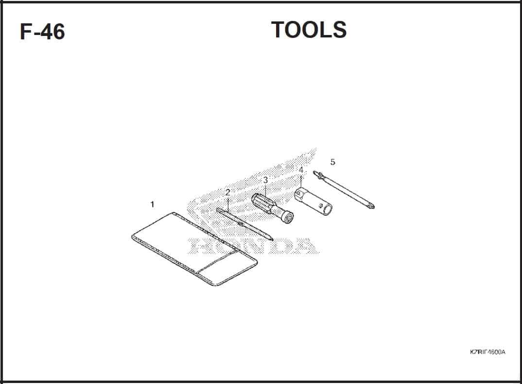 F-46 Tools – Katalog Honda Vario Techno 125 -2