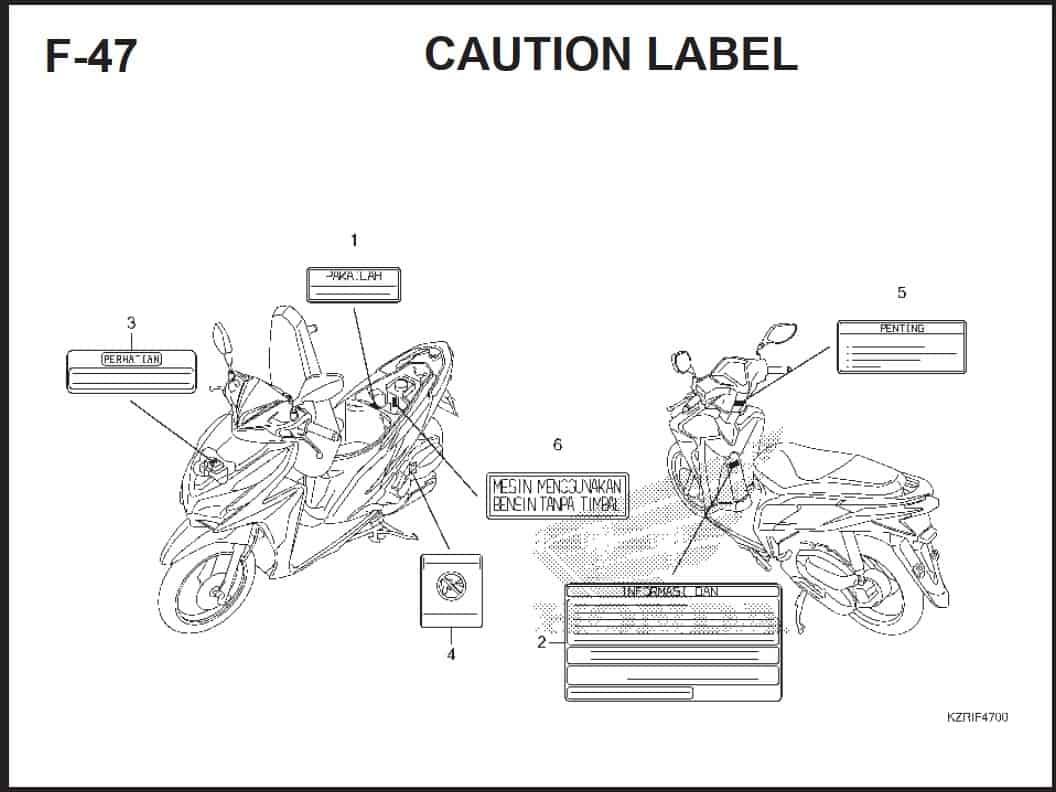 F-47 Caution Label