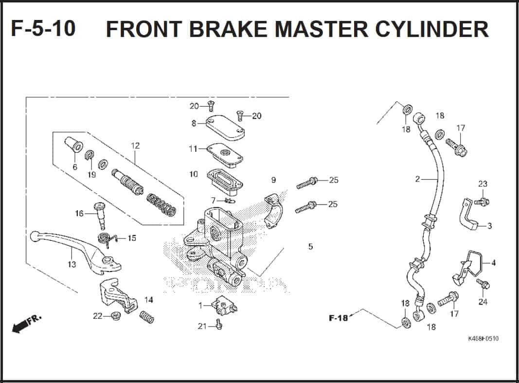 F-5-10 Front Brake Master Cylinder