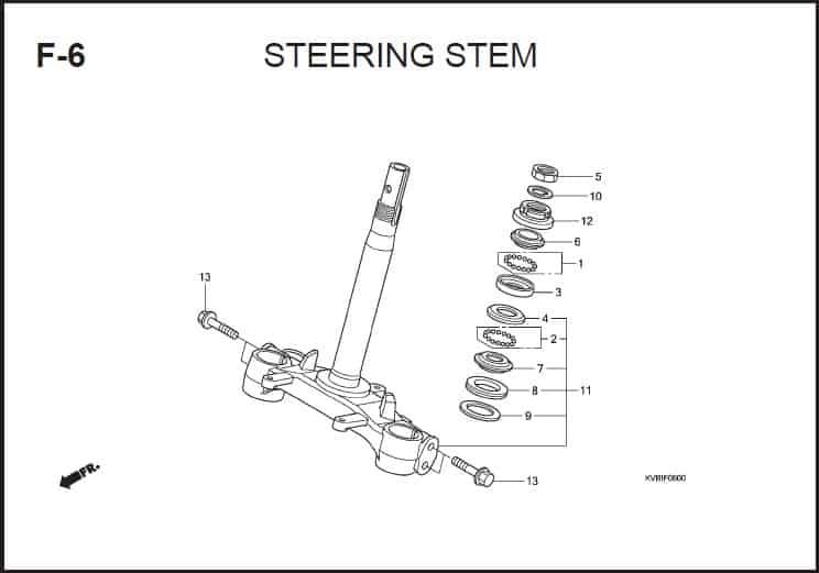 F-6 Steering Stem