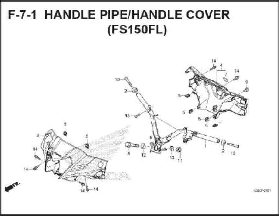 F-7-1 Handle Pipe Handle Cover (FS150FL)