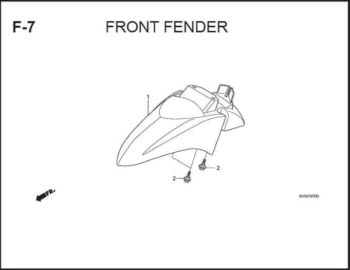 F-7 Front Fender