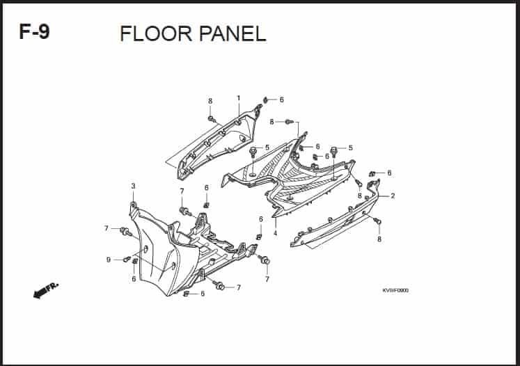 F-9 Floor panel