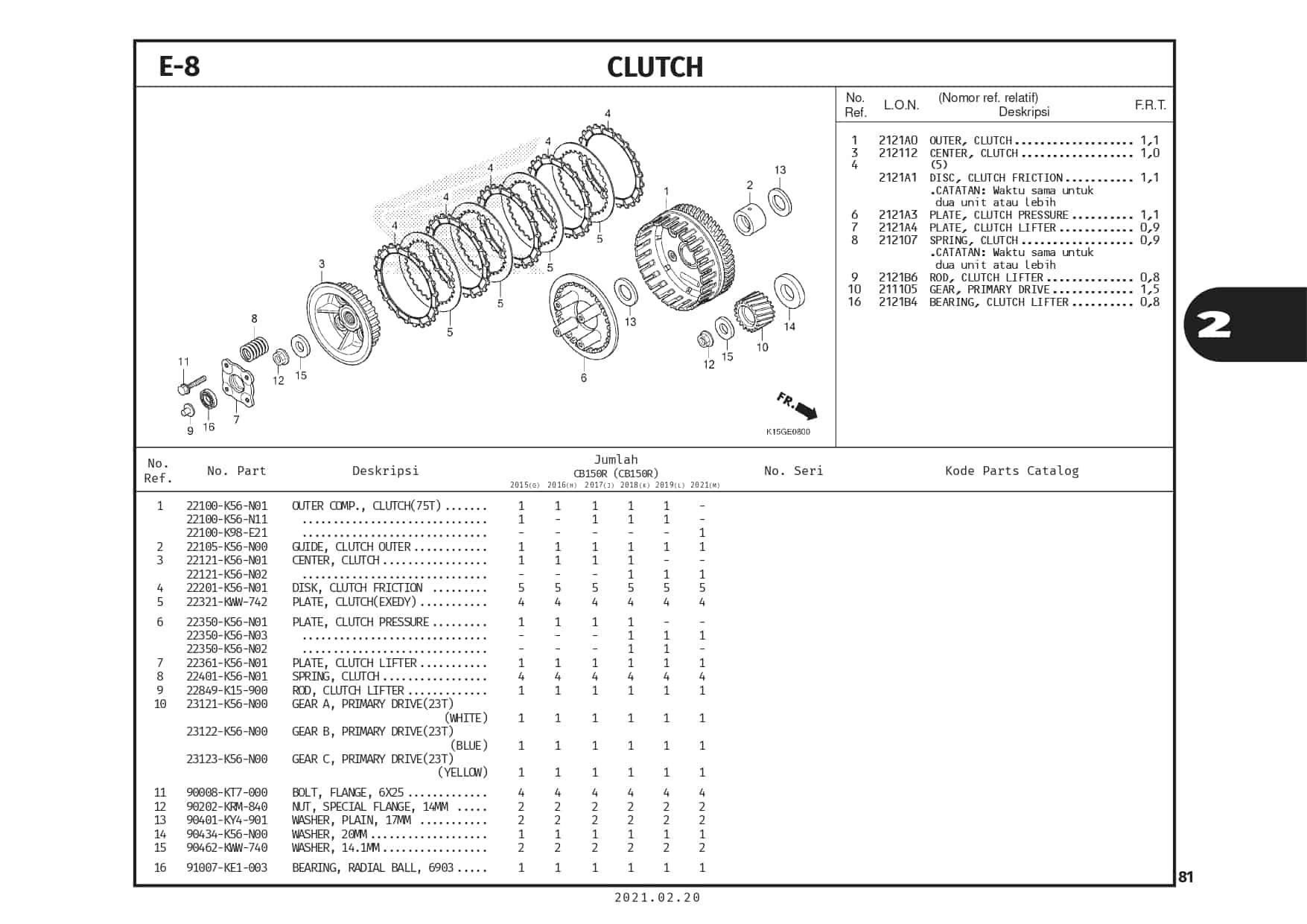 E-8 Clutch