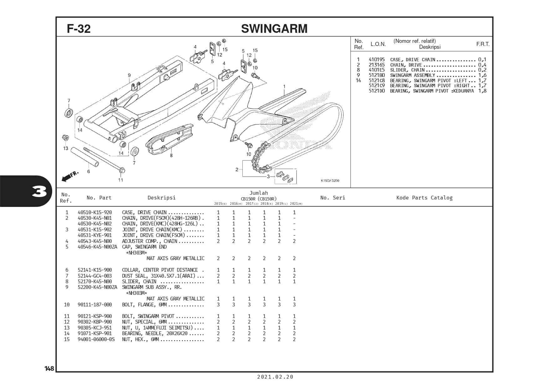 F-32 Swingarm