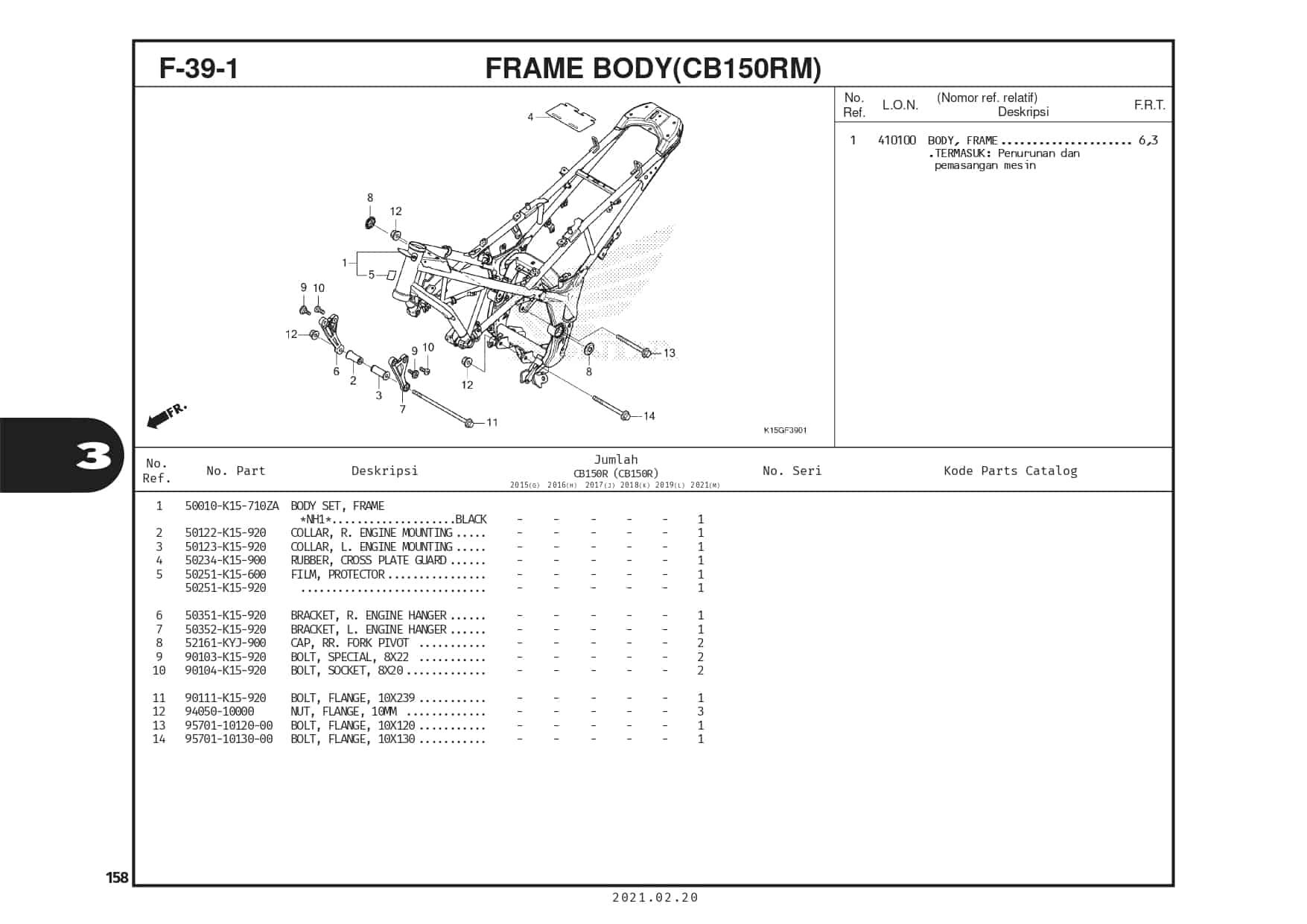 F-39-1 Frame Body(CB150RM)