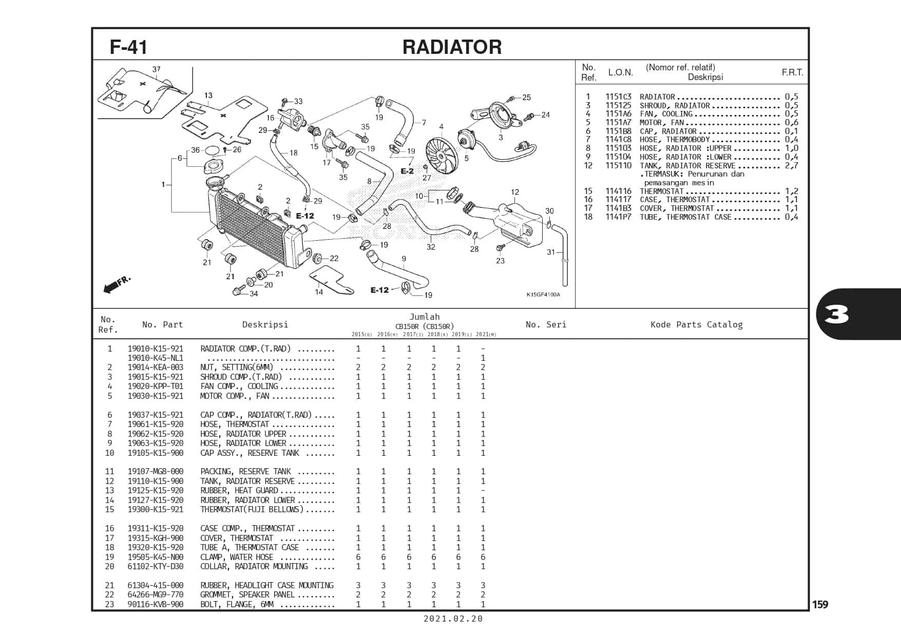 F-41 Radiator