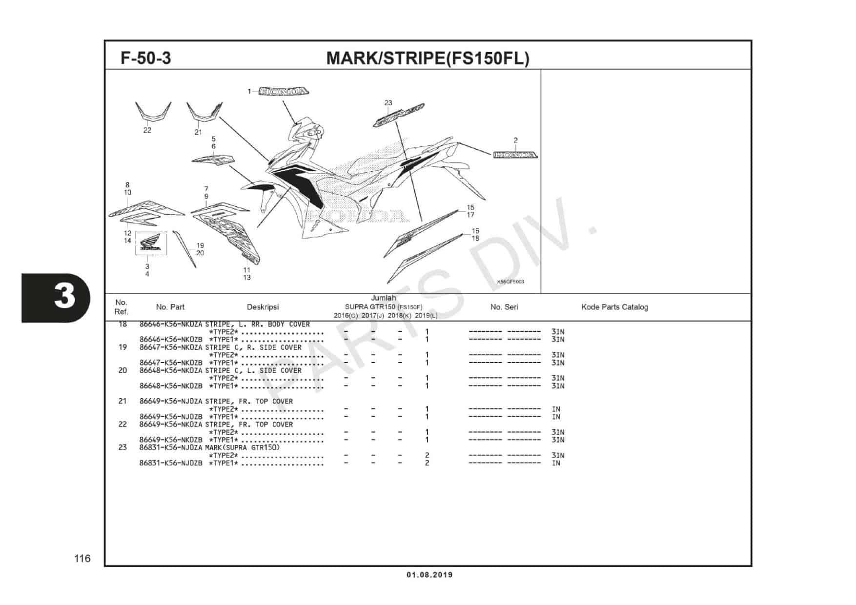 F-50-3 Mark/Stripe (FS150FL)
