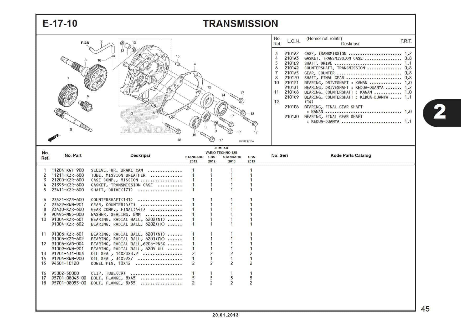 E-19-10 Right Crank Case Cover