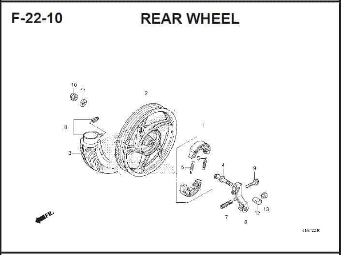 22-10 Rear Wheel