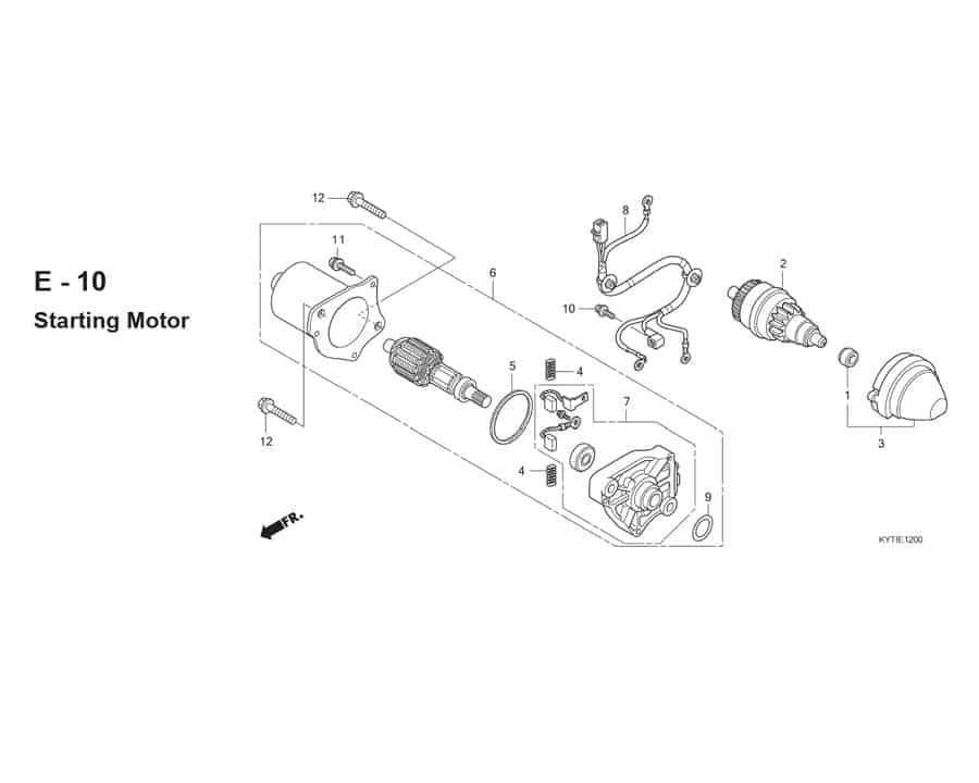 E-10 Starter Motor