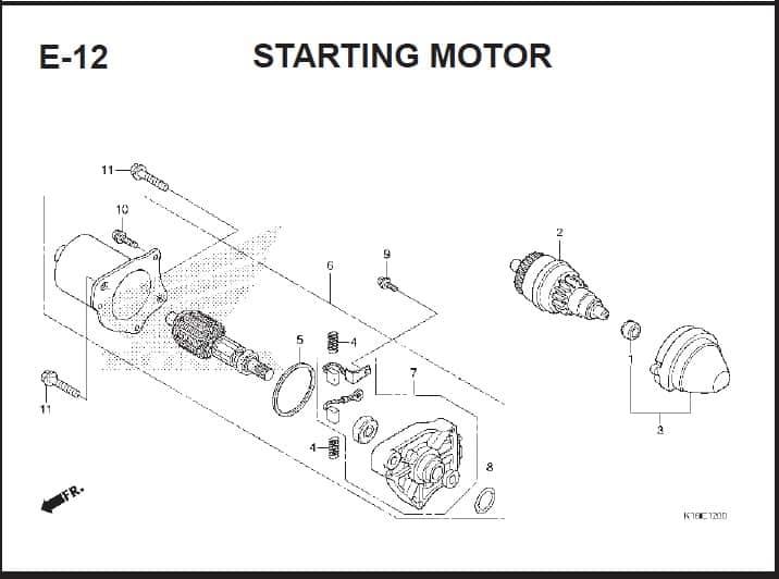 E-12 Starting Motor