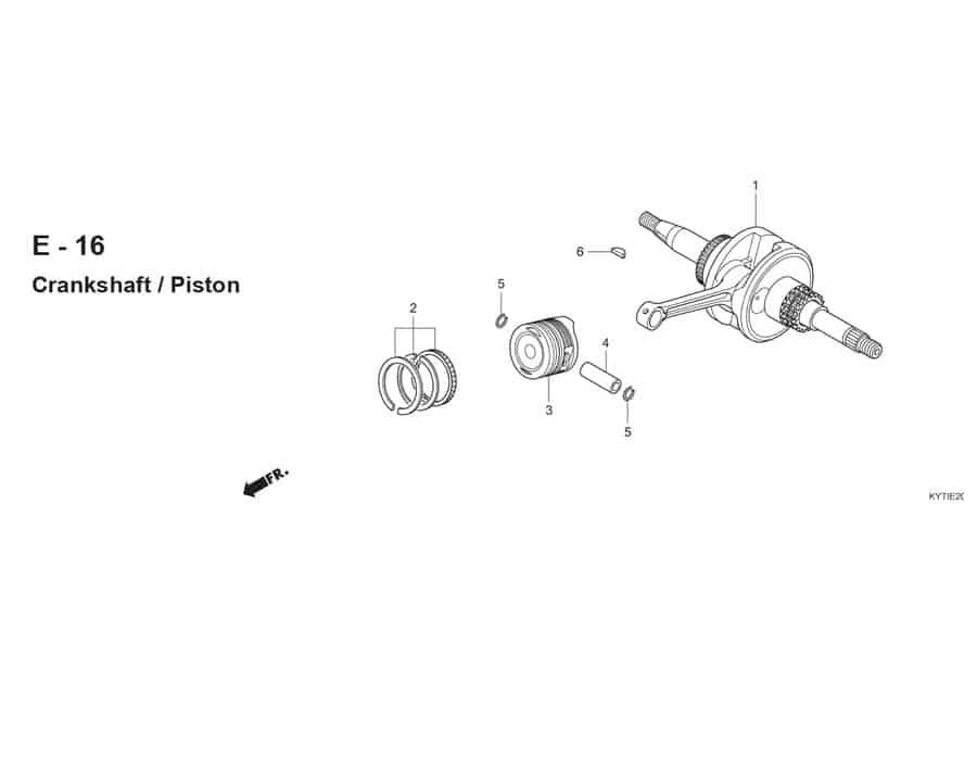 E-16 CrankShaft Piston