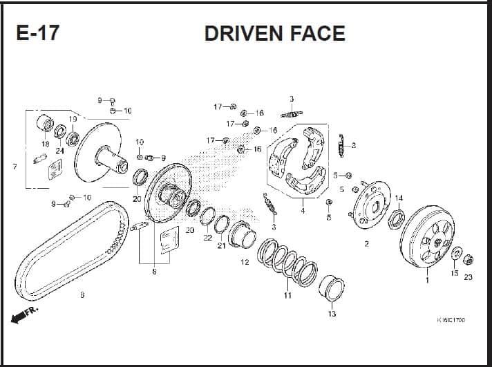 E-17 Drive Face