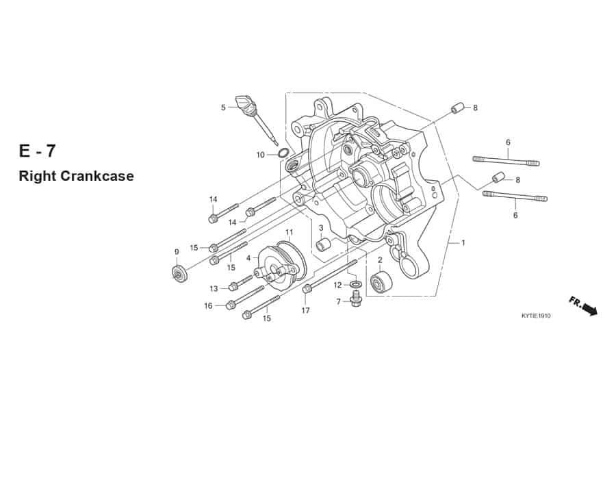 E-7 Right Crankcase
