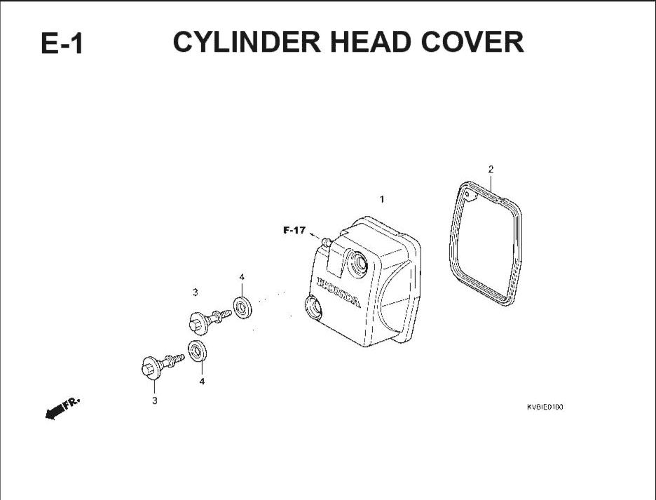 E-1 Cylinder Head Cover – Katalog Suku Cadang Honda Vario Techno