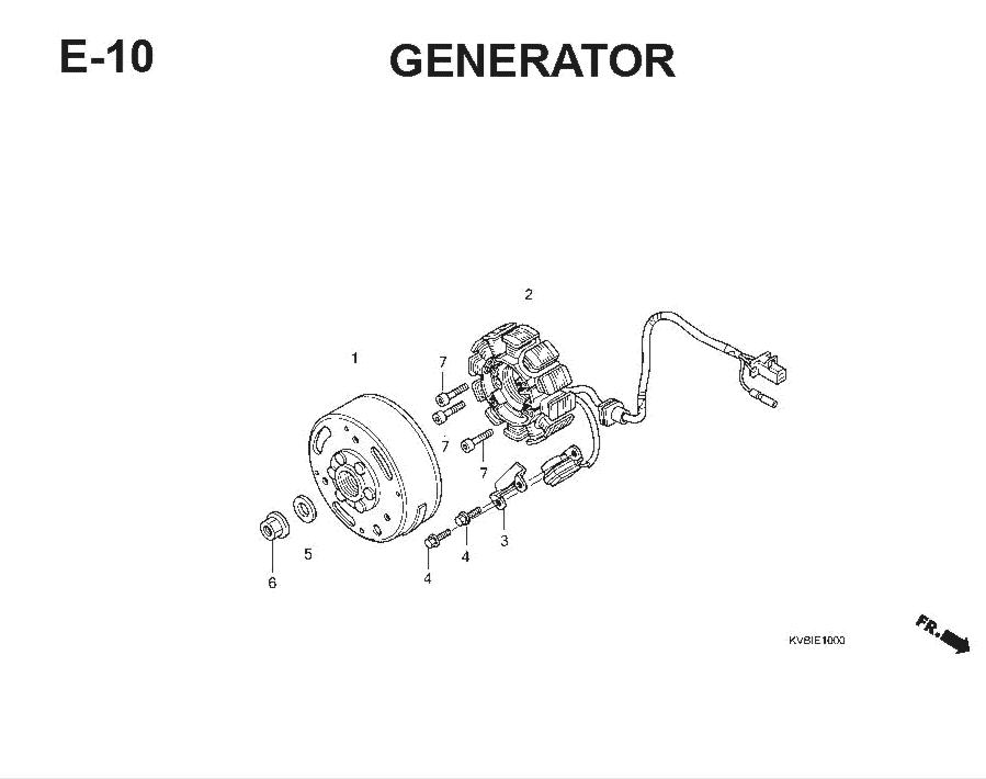 E-10 Generator – Katalog Suku Cadang Honda Vario Techno