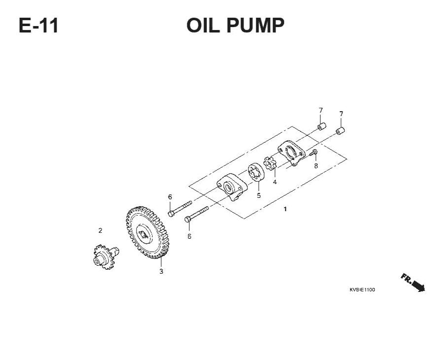 E-11 Oil Pump – Katalog Suku Cadang Honda Vario Techno