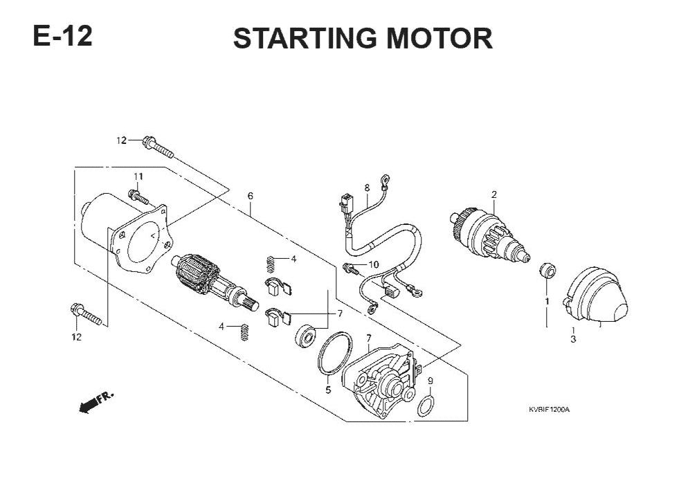 E-12 Starting Motor – Katalog Suku Cadang Honda Vario Techno