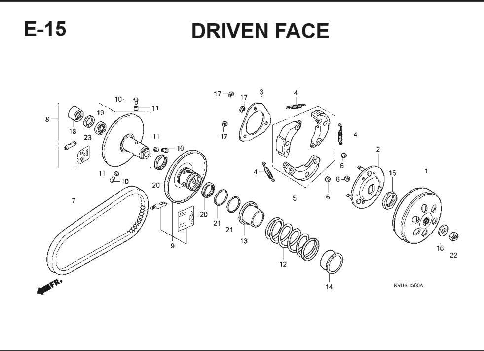 E-15 Drive Face – Katalog Suku Cadang Honda Vario Techno