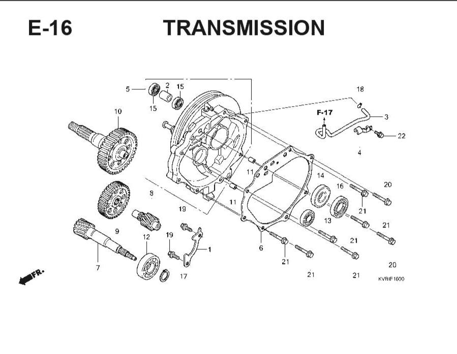 E-16 Transmission – Katalog Suku Cadang Honda Vario Techno