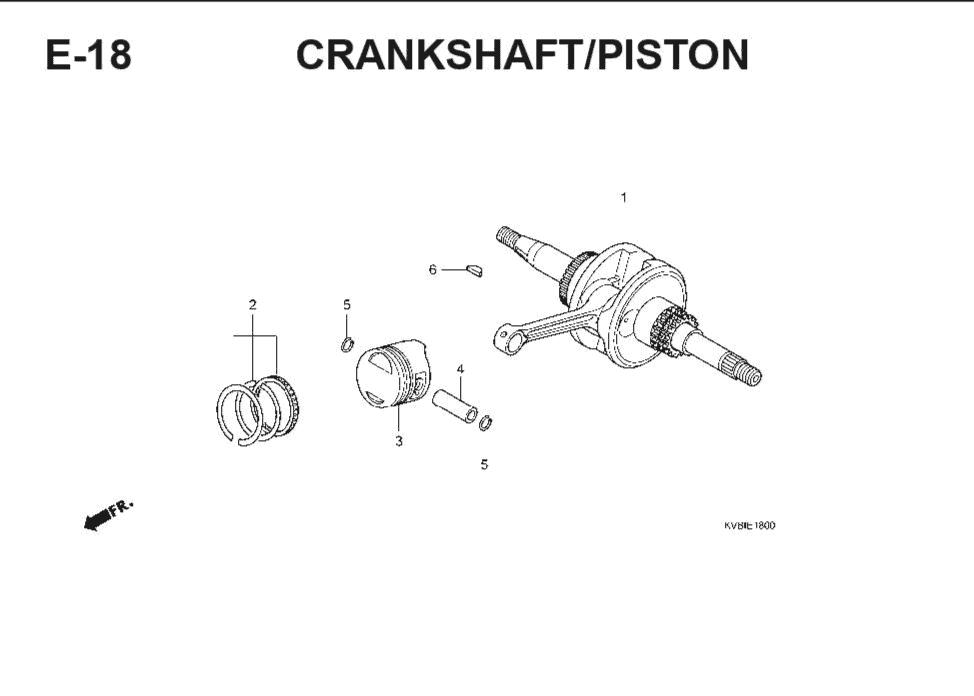 E-18 CrankShaft – Katalog Suku Cadang Honda Vario Techno