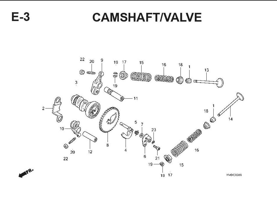 E-3 Camshaft/Valve – Katalog Suku Cadang Honda Vario Techno